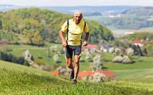 Senior Man Running to Keep Fit